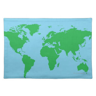Illustrated World Map Placemat