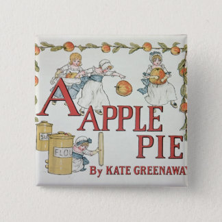 Illustration 'A' from 'Apple Pie Alphabet' 15 Cm Square Badge