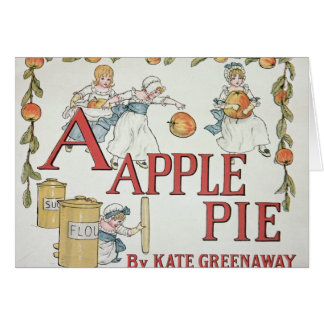 Illustration 'A' from 'Apple Pie Alphabet' Card