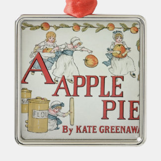 Illustration 'A' from 'Apple Pie Alphabet' Christmas Ornament