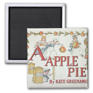 Illustration 'A' from 'Apple Pie Alphabet' Magnet