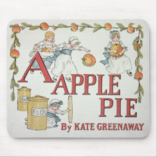 Illustration 'A' from 'Apple Pie Alphabet' Mouse Pad