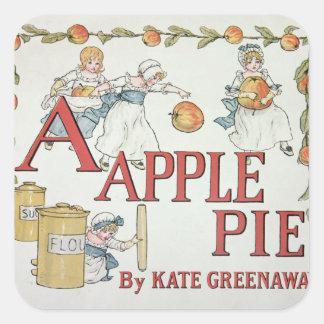 Illustration 'A' from 'Apple Pie Alphabet' Square Sticker