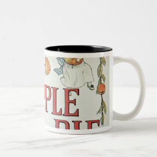 Illustration 'A' from 'Apple Pie Alphabet' Two-Tone Coffee Mug