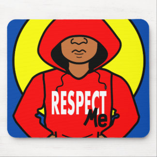 Illustration African American Boy wearing Hoodie Mouse Pad
