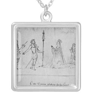 Illustration Andronicus, by William Silver Plated Necklace