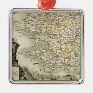 Illustration Atlas Maps Christmas Ornament