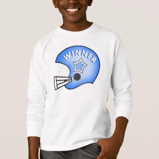 illustration blue football helmet & star t-shirt