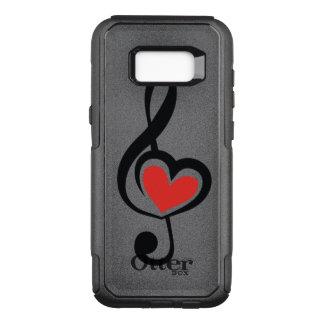 Illustration Clef Love Music OtterBox Commuter Samsung Galaxy S8+ Case
