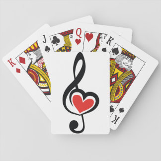Illustration Clef Love Music Playing Cards