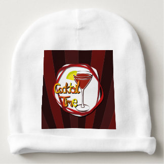 """Illustration Cocktail with lemon """"Cocktail Time"""" Baby Beanie"""