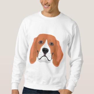 Illustration dogs face Beagle Sweatshirt