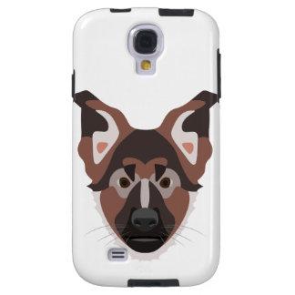 Illustration dogs face German Shepherd Galaxy S4 Case