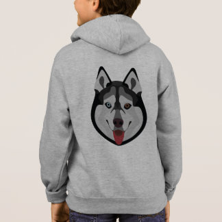 Illustration dogs face Siberian Husky Hoodie