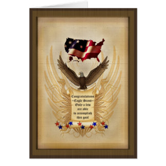 Illustration - Eagle - USA -  Achievement - Award Greeting Cards