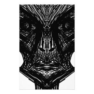 Illustration Face Custom Stationery