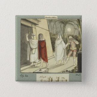 Illustration for Mozart's 'The Magic Flute', 1845 15 Cm Square Badge