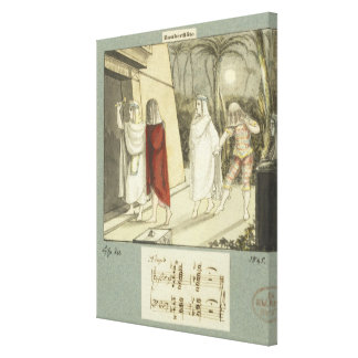 Illustration for Mozart's 'The Magic Flute', 1845 Gallery Wrap Canvas