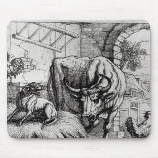 Illustration for The Dog and the Ox Mousepad