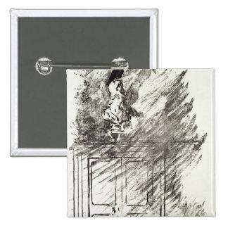Illustration for 'The Raven' 15 Cm Square Badge