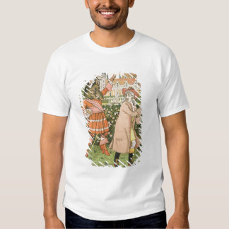 Illustration from Beauty and the Beast, 1901 (colo Tshirts