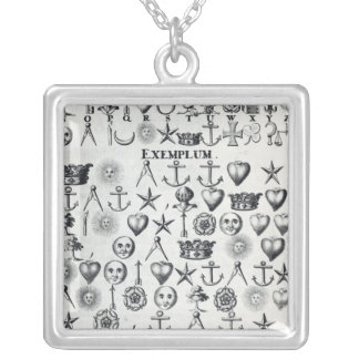 Illustration from Book 9 Silver Plated Necklace