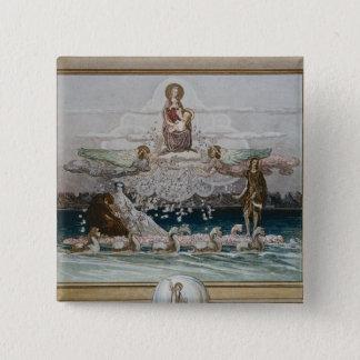 Illustration from Dante's 'Divine Comedy' 2 15 Cm Square Badge