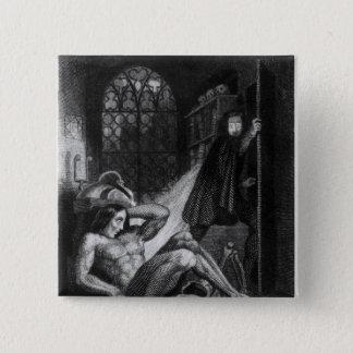 Illustration from 'Frankenstein' 15 Cm Square Badge