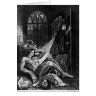 Illustration from 'Frankenstein' Card