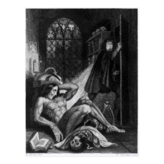 Illustration from 'Frankenstein' Postcard
