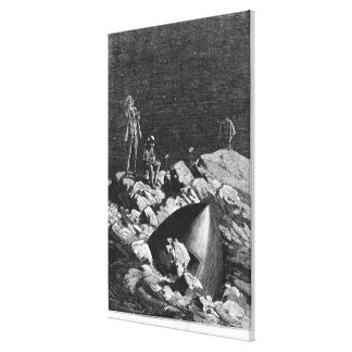 Illustration from 'From the Earth to the Moon' Canvas Print