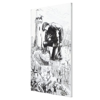 Illustration from 'Gulliver's Travels' Canvas Print