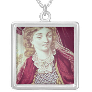 Illustration from Gulliver's Travels Silver Plated Necklace