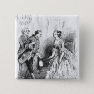 Illustration from 'L'Emile' 15 Cm Square Badge