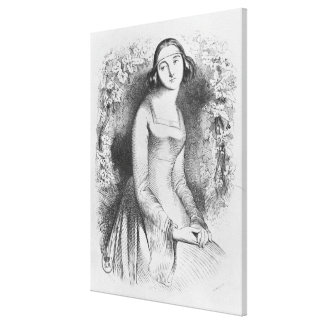 illustration from 'Lettres d'Heloise et Canvas Print