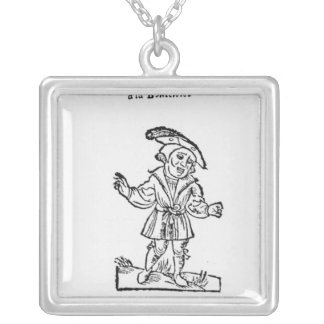 Illustration from 'Pantagruel' Silver Plated Necklace