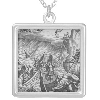 Illustration from 'The Aeneid' by Virgil Silver Plated Necklace
