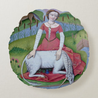 Illustration from the 'Book of Simple Medicines' Round Cushion