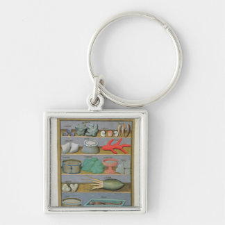 Illustration from the 'Book of Simple Medicines' Silver-Colored Square Key Ring