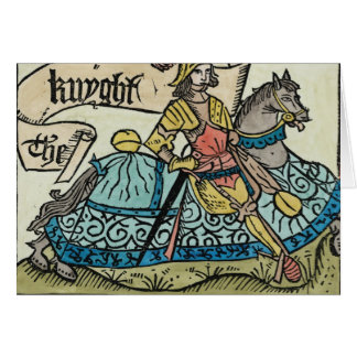 Illustration from 'The Canterbury Tales' Greeting Card