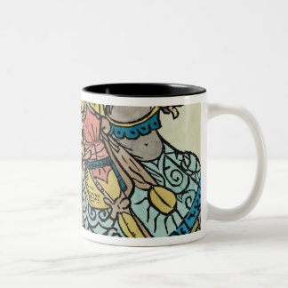 Illustration from 'The Canterbury Tales' Two-Tone Coffee Mug