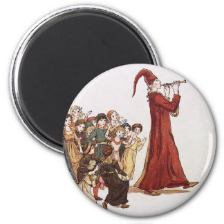 Illustration from The Pied Piper of Hamelin Book 6 Cm Round Magnet