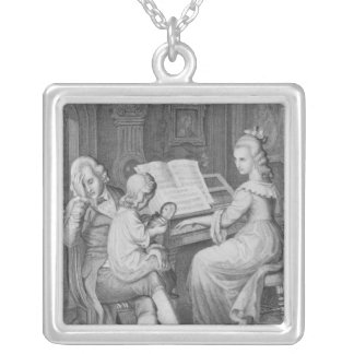Illustration from 'The Sorrows of Werther' Silver Plated Necklace