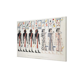 Illustration from the Tombs of the Kings at Canvas Print