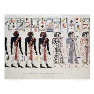 Illustration from the Tombs of the Kings at Postcard
