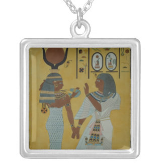 Illustration from the Tombs of the valley Silver Plated Necklace