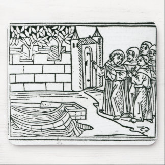 Illustration from 'The Voyage of St. Brendan' Mouse Mat