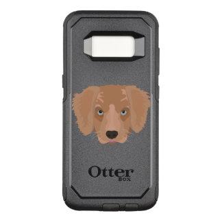 Illustration Golden Retriever Puppy OtterBox Commuter Samsung Galaxy S8 Case