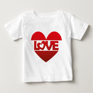 Illustration Heart with lettering LOVE in red Baby T-Shirt