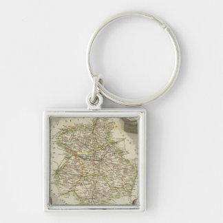 Illustration maps key ring